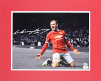 Wayne Rooney Signed Manchester United 16x20 Custom Matted Photo Display (Beckett COA & Fanatics Hologram)
