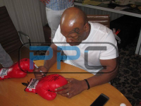 Mike Tyson & Evander Holyfield Signed Everlast Boxing Glove (PSA COA) at PristineAuction.com