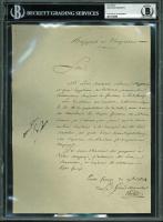 Napoleon Bonaparte Signed Document (BGS Encapsulated)
