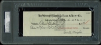 Orville Wright Signed Personal Bank Check (PSA Encapsulated)