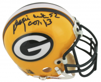 "Reggie White Signed Green Bay Packers Mini Helmet Inscribed ""1 Cor. 13"" (Beckett LOA)"