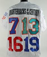 Quarterbacks of the Century Jersey Signed by (4) with Johnny Unitas, Joe Montana, John Elway, & Dan Marino (PSA LOA)
