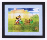 "Walt Disney's Goofy LE ""Mr. Mouse Takes A Trip"" 16x19 Custom Framed Animation Serigraph Display"