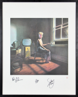 "Geddy Lee, Neil Peart, & Alex Lifeson Signed LE Rush ""Power Windows"" 23x29 Custom Framed Lithograph Display (Beckett LOA)"