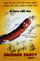 """""""Sausage Party"""" 12x18 Photo Cast-Signed by (10) with Paul Rudd, David Krumholtz (Beckett LOA)"""