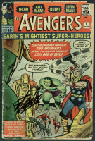 """Stan Lee Signed 1963 """"The Avengers """" Issue #1 Marvel Comic Book (PSA LOA)"""