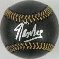 Stan Lee Signed OML Black Leather Baseball (PSA COA)