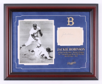 Jackie Robinson Signed 17.5x21.25 Custom Framed Cut Display (JSA LOA) at PristineAuction.com