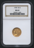 1928 $2.50 Indian Quarter Eagle Gold Coin (NGC MS 62) at PristineAuction.com