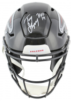 "Tony Gonzalez Signed Atlanta Falcons Full-Size Authentic On-Field SpeedFlex Helmet Inscribed ""HOF 19"" (Beckett COA)"