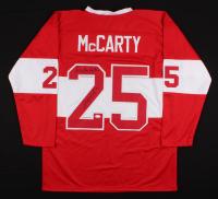 "Darren McCarty Signed Detroit Red Wings Jersey Inscribed ""B**** A** Beatdown"" (JSA COA)"