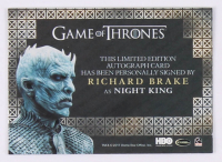 Lot of Assorted Game of Thrones Collector's Items with 2017 Game of Thrones Valyrian Steel Valyrian Autographs #NNO Richard Brake as Night King at PristineAuction.com
