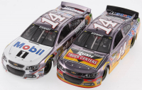 Lot of (2) Tony Stewart LE 1:24 Scale Die Cast Cars with (1) #14 Mobil 1 2014 Color Chrome & (1) #14 Rush Trucks 2015 SS Color Chrome