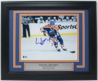Wayne Gretzky Signed Edmonton Oilers 11x14 Custom Framed Photo Display (Beckett LOA)