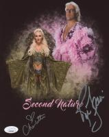Rick Flair & Charlotte Flair Signed WWE 8x10 Photo (JSA COA)