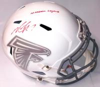 "Michael Vick Signed Atlanta Falcons Full-Size Speed Helmet Inscribed ""Madden Legend"" (PSA COA)"