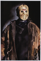 """Tony Santiago - Jason Voorhees - """"Friday the 13th"""" 13x19 Signed Lithograph (PA COA) at PristineAuction.com"""