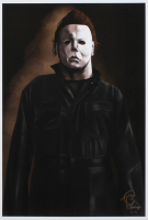 "Tony Santiago - Michael Myers - ""Halloween"" 13x19 Signed Lithograph (PA COA) at PristineAuction.com"