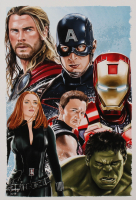 Tony Santiago - The Avengers - Marvel Comics 13x19 Signed Lithograph (PA COA) at PristineAuction.com