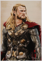 Tony Santiago - Thor - The Avengers - Marvel Comics 13x19 Signed Lithograph (PA COA) at PristineAuction.com