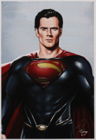 Tony Santiago - Superman - DC Comics 13x19 Signed Lithograph (PA COA) at PristineAuction.com