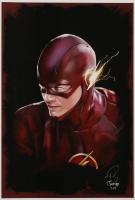 Tony Santiago - The Flash - DC Comics 13x19 Signed Lithograph (PA COA) at PristineAuction.com