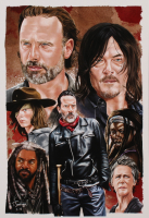 Tony Santiago - The Walking Dead - 13x19 Signed Lithograph (PA COA) at PristineAuction.com