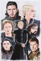 Tony Santiago - Game of Thrones - 13x19 Signed Lithograph (PA COA) at PristineAuction.com