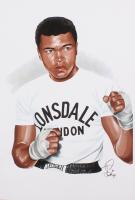 Tony Santiago - Muhammad Ali - 13x19 Signed Lithograph (PA COA) at PristineAuction.com