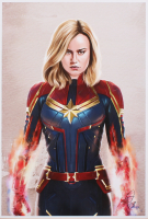 Tony Santiago - Captain Marvel - Marvel Comics 13x19 Signed Lithograph (PA COA) at PristineAuction.com