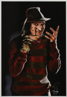 "Tony Santiago - Freddy Krueger - ""A Nightmare on Elm Street"" 13x19 Signed Lithograph (PA COA) at PristineAuction.com"
