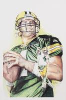 Brian Barton - Brett Favre - Packers - 12x19 Signed  Limited Edition Lithograph #/250 (PA COA)