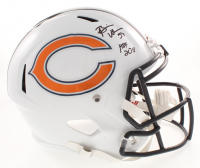 "Brian Urlacher Signed Chicago Bears Full-Size Speed Helmet Inscribed ""HOF 2018"" (Beckett COA) at PristineAuction.com"