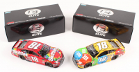 Lot of (2) Kyle Busch LE 1:24 Scale Die Cast Cars with (1) Signed #18 M&M's 2018 Camry Elite & (1) #18 SKITTLES Bristol Win 2018 Camry Elite (RCCA COA)