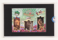 """""""Wizard of Oz"""" Prop Card Display With Piece of Wagon Wheel, Straw From Scarecrow & Hair From Lion (Odyssey COA)"""