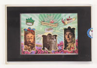 """""""Wizard of Oz"""" Prop Card Display With Piece of Wagon Wheel, Straw From Scarecrow & Hair From Lion (Odyssey COA) at PristineAuction.com"""