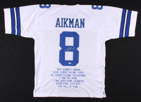 Troy Aikman Signed Career Highlight Stat Jersey (Beckett COA) at PristineAuction.com