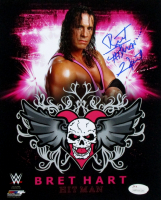 "Bret ""Hitman"" Hart Signed 8x10 Photo (JSA COA)"