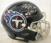 "Eddie George Signed Tennessee Titans Full-Size Authentic On-Field Speedflex Helmet Inscribed ""Titan Up"" (Beckett COA)"