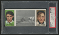 1912 Hassan Triple Folders T202 #46 Devlin Gets His Man / Art Fletcher / Christy Mathewson (PSA 8) (OC)