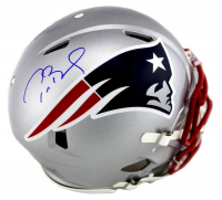 Tom Brady Signed New England Patriots Full-Size Authentic On-Field Speed Helmet (TriStar Hologram) at PristineAuction.com
