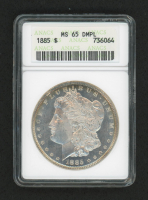 1885 $1 Morgan Silver Dollar Deep Mirror Proof Like (ANACS MS 65) at PristineAuction.com