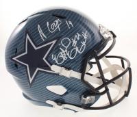 Ezekiel Elliott & Amari Cooper Signed Dallas Cowboys Full-Size Hydro Dipped Speed Helmet (Beckett COA)