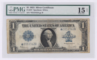 Star Note - 1923 $1 One Dollar Blue Seal Large Size Silver Certificate Bank Note Bill (PMG 15)