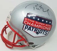 "Tom Brady Signed New England Patriots Limited Edition ""6-Time Super Bowl Champions"" Full-Size Authentic On-Field Helmet (TriStar Hologram)"