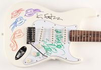 "Kevin Eastman & Vanilla Ice Signed ""Teenage Mutant Ninja Turtles"" 39"" Electric Guitar with All (4) Turtles Hand-Drawn & Inscribed ""Go Ninja Go"" (JSA ALOA) at PristineAuction.com"