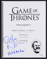"Kristian Nairn Signed ""Game of Thrones: The Door"" Episode Script Inscribed ""Hold the Door!"" (JSA COA)"
