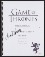 "Charles Dance Signed ""Game of Thrones: The Children"" Episode Script (JSA COA)"