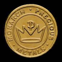 Gold 1/2 Gram .9999 Fine Monarch Mint Bullion Round - Sealed in Capsule
