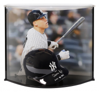 "Aaron Judge Signed New York Yankees Full-Size Batting Helmet Inscribed ""2017 AL ROY"" with High Quality Display Case (Fanatics Hologram) at PristineAuction.com"